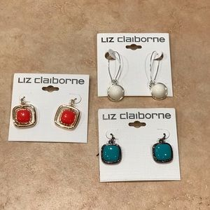 NEW bundle of 3 Liz Claiborne dangle earrings